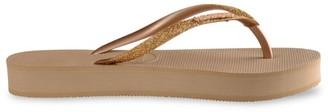 Havaianas Slim Glitter Flatform Flip Flops