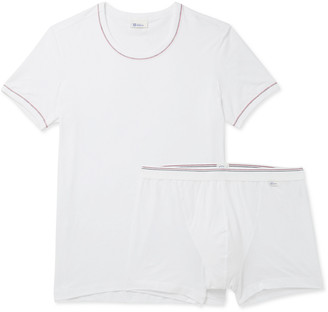 Schiesser Two-Piece Stretch Cotton And Modal-Blend Set