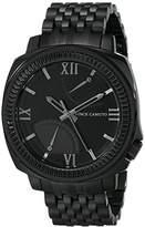 Vince Camuto Men's VC/1002BKTI The Veteran Multi-Function Black Bracelet Watch