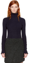 See by Chloe Navy Button Turtleneck
