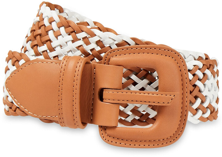 Thumbnail for your product : Zimmermann Chevron Woven Leather Belt