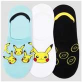 Pokemon Women's 3-pk Liner Socks 9-11