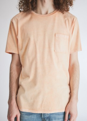 Levi's Men's Pocket T-Shirt in Washed Orange, Size Small | 100% Cotton