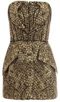 Alexander McQueen Honeycomb jacquard strapless top