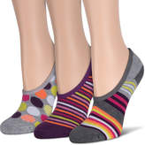 Asstd National Brand 3Pk Gray Stripe Half Cush Liner Socks