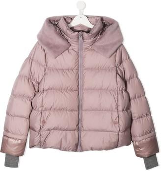 Herno TEEN hooded puffer jacket