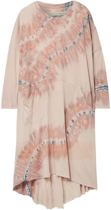 Raquel Allegra Oversized Tie-dyed Cotton-blend Jersey Dress