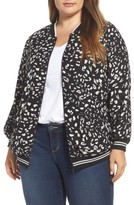 Vince Camuto Plus Size Women's Animal Whispers Bomber Jacket