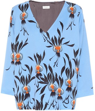 Dries Van Noten Printed crApe top