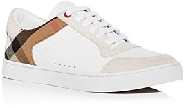 Burberry Men's Reeth Leather Low-Top Sneakers