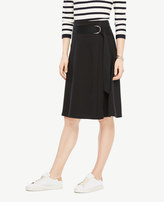 Ann Taylor Belted Circle Skirt