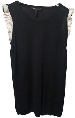 BCBGMAXAZRIA Black Silk Top for Women