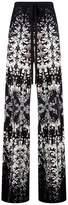 Roberto Cavalli Burnt Shells Print Wide-Leg Trousers