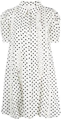 Sjyp Polka-Dot Frill Shift Dress