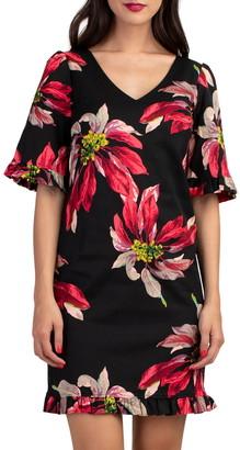 Trina Turk Lounge Floral Ruffle Dress