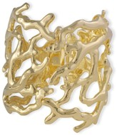 The Well Appointed House Polished Gold Coral Branch Hinged Cuff Bracelet