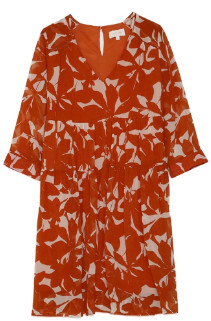 Mila Louise Grace & Orange Floral Short Anouk Dress - small