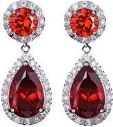 CHIC JEWELRY ZMJ Bridal Wedding Jewelry Beautiful Crystal Fashion Earring Silver Dangle Earrings for women (J-E64)