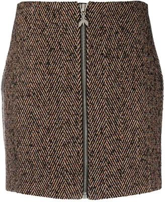 Patrizia Pepe Herringbone-Pattern Mini Skirt