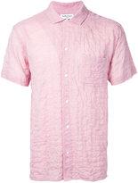 YMC 'Malick' crinkled shirt - men - Cotton/Polyester - S
