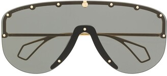 Gucci 610414I330 mask-frame sunglasses