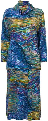 Kenzo Pre Owned abstract print skirt ensemble