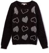 Celebrity Pink Black & Metallic Heart Sweater - Girls