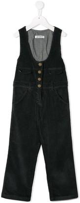 Dondup Kids corduroy button jumpsuit