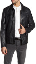 Kenneth Cole New York Full Zip Faux Leather Jacket