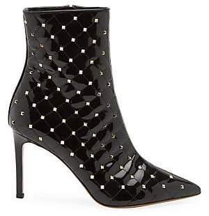 Valentino Women's Garavani Rockstud Spike Patent Leather Ankle Boots