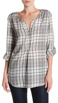 Casual Studio Plaid Tunic Blouse