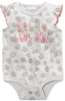 First Impressions Hello Sunshine Cotton Snap-Up Bodysuit, Baby Girls (0-24 months), Only at Macy's