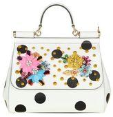 Dolce & Gabbana Bag Hand Sicily Pois White Leather