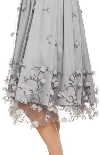 Eliza J Women's Floral Applique Ball Skirt