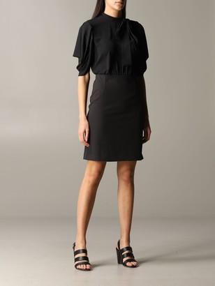Blumarine Be Dress Be Short Dress With Foulard Collar