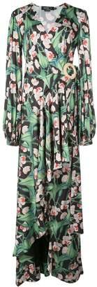 PatBO ruffled floral dress