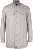 Diesel Black Gold ribbed collar shirt jacket - men - Cotton - S