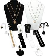 FindingKing Necklaces Rings Bracelet Ers Jewelry Display 12 Pc Set