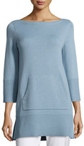 Michael Kors Cashmere Front-Pocket Tunic, Medium Blue