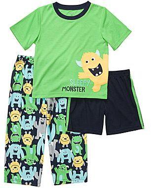 Carter's 3-pc. Monster Pajamas - Boys 2t-5t