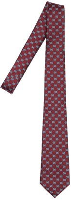 Gucci 7cm Gg Geometric Interlocking Silk Tie