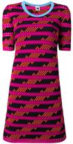 M Missoni striped pattern shortsleeved dress - women - Cotton/Polyamide/Polyester - 40
