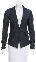Rachel Zoe Fitted Denim Blazer