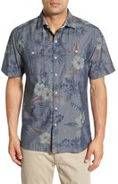 Tommy Bahama 'Indigo Tropical Riviera' Island Modern Fit Floral Print Sport Shirt