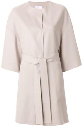 Agnona Boxy Cropped Sleeve Single-Breasted Coat