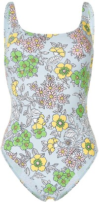 Tory Burch Wallpaper Floral-print swimsuit
