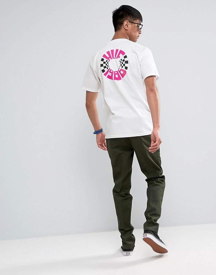 HUF T-Shirt With Check Circle Back Print