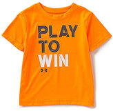 Under Armour Little Boys 2T-7 Play To Win Short-Sleeve Graphic Tee