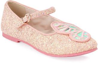 Sophia Webster Butterfly Glittered Ballet Flats, Toddler/Kids