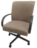 BEIGE Holyfield Task Chair Symple Stuff Upholstery Color: Basin Beige, Frame Color: Brown